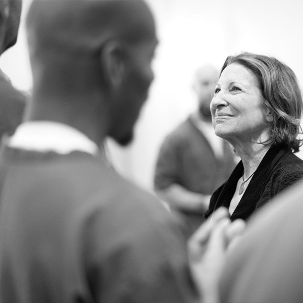 Sherry shares an emotional moment with our second cohort at AVCF.